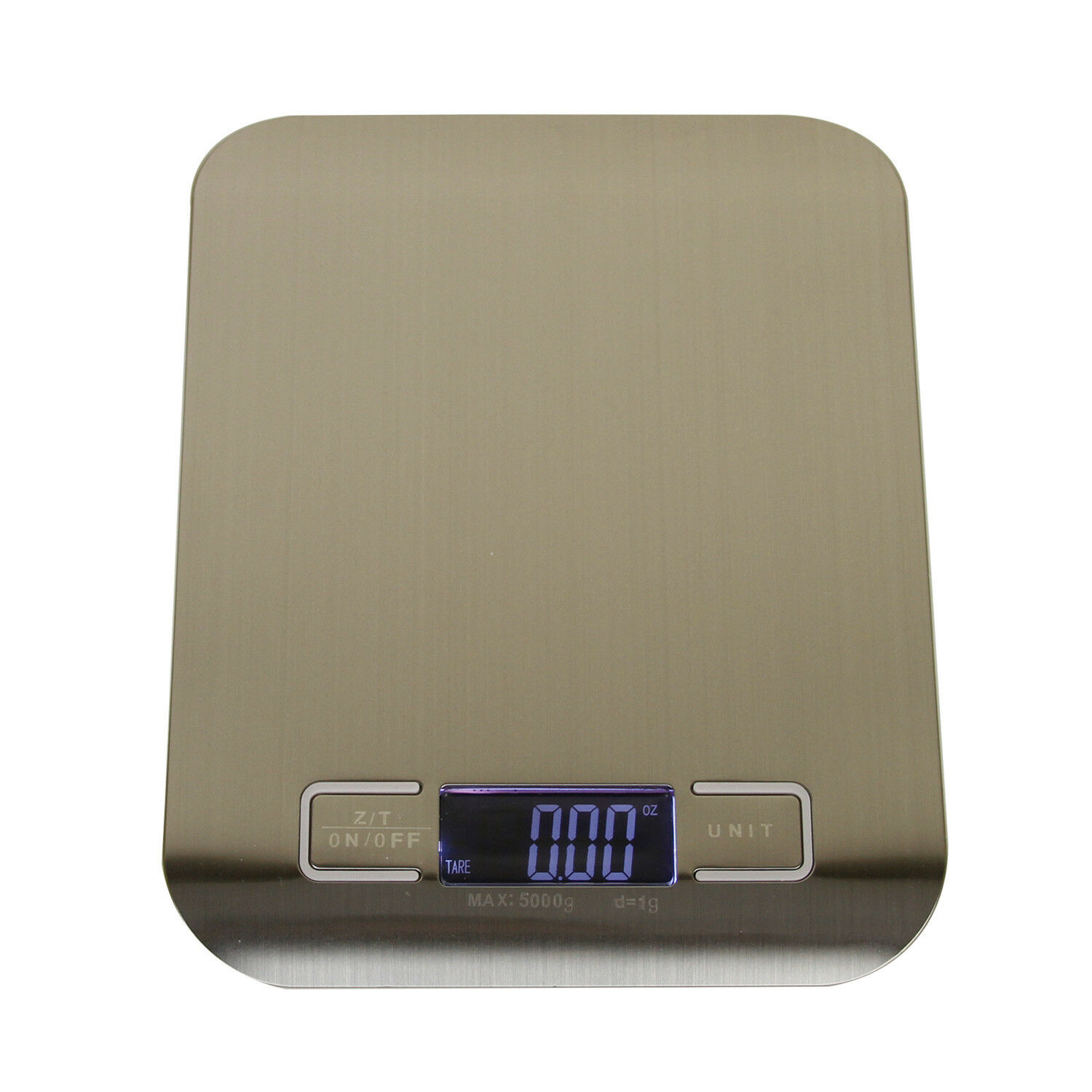 Stainless Steel Kitchen Food Scale Digital LCD Display Multi Units Measurement