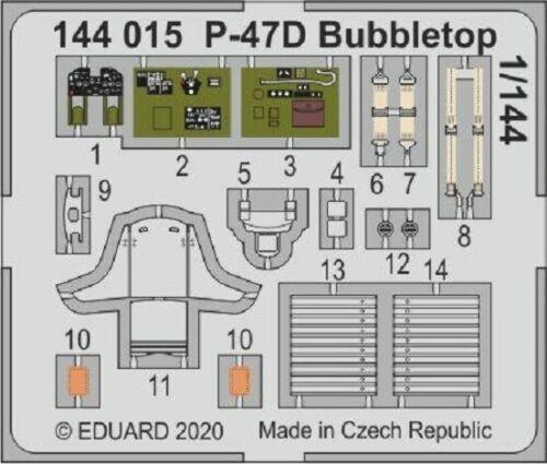 EDUARD  1//144 Aircraft Painted EDU144015 P47D Bubbletop for EDU /& PAZ