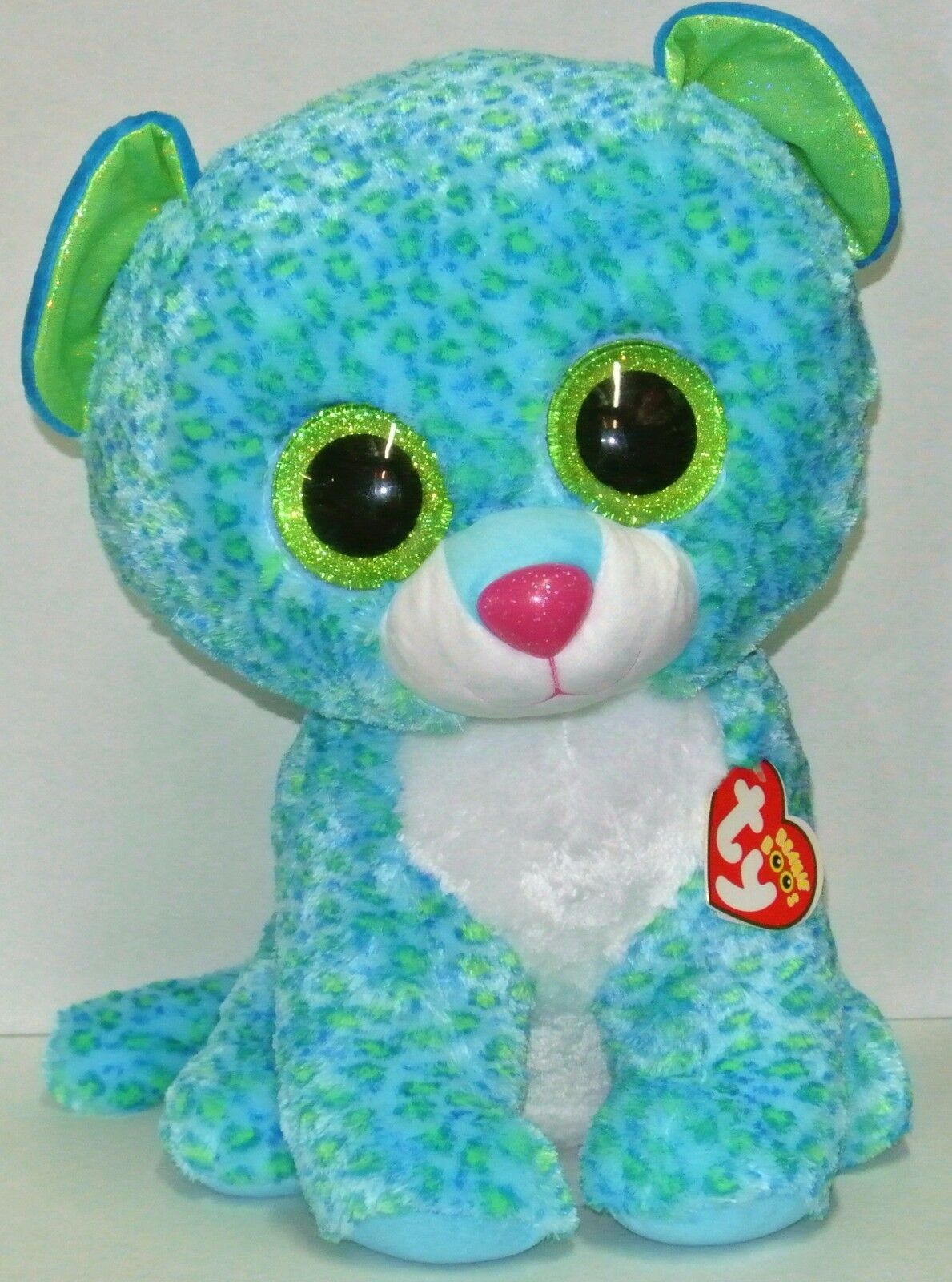 New  Ty Beanie Boos LEONA the Leopard Large 16  size Beautiful