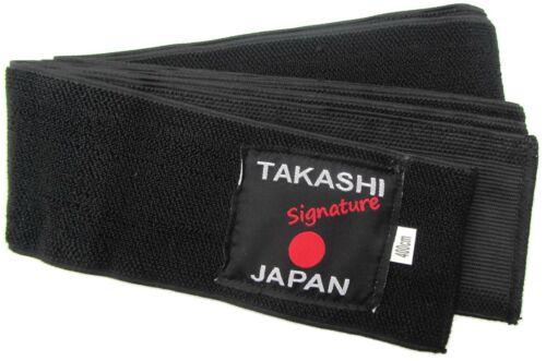 Aikido 400cmX8cm DOJO Karate Kendo /& Koryu Iaido BLACK Obi Belt KURO