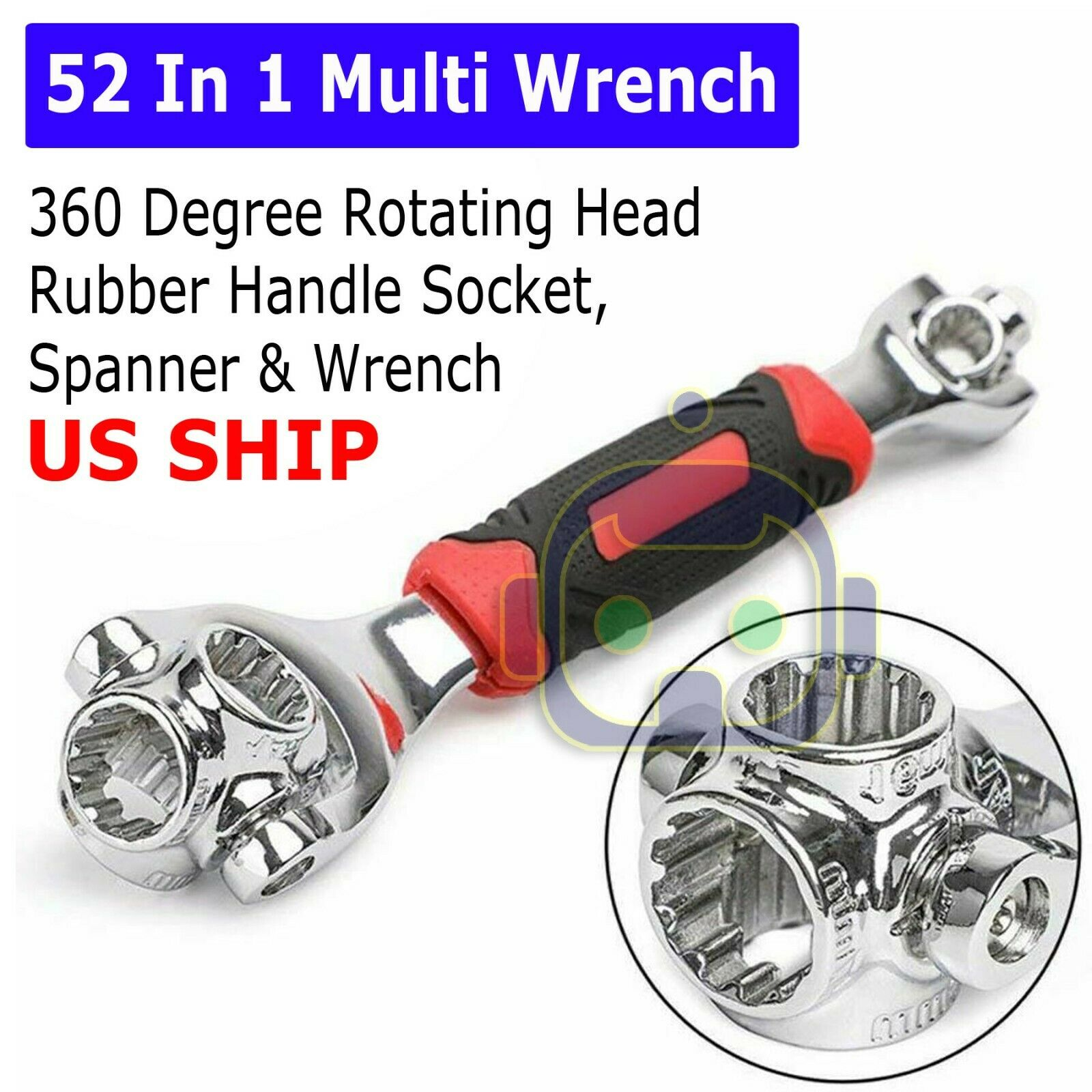 Multi-function 48 In 1 Tiger Wrench 360 Degree Rotatable Socket Torque Spanner