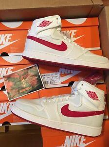 Nike Air Jordan Retro 1 High KO TIMELESS CANVAS Sail Varsity Red 638471-102 AJKO
