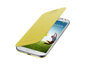 innovative design 46c59 af535 Details about Original Samsung Galaxy s4 Flip Cover Yellow Colour Phone  Mobile Full Case Cover