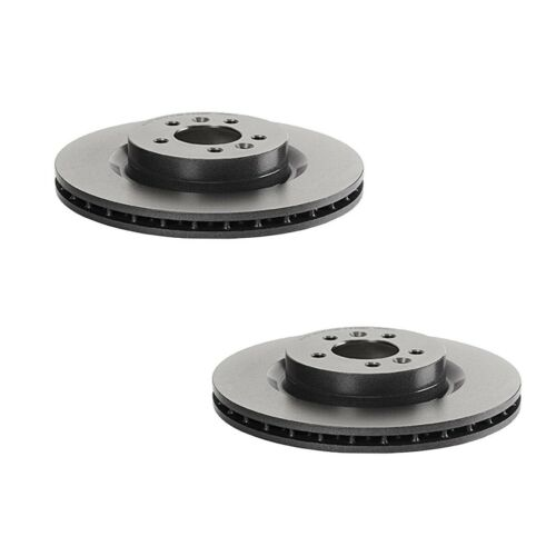 Brembo Pair Set of 2 Front Brake Disc Rotors PVT for Discovery Range Rover Sport