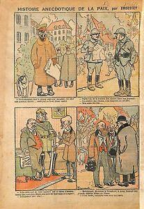 Caricature-Politique-Paix-Kaiser-Hindenberg-Poilus-Alsace-WWI-1918-ILLUSTRATION