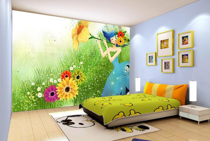 3D Girl Garden 75  Wall Paper Murals Wall Print Wall Wallpaper Mural AU Kyra