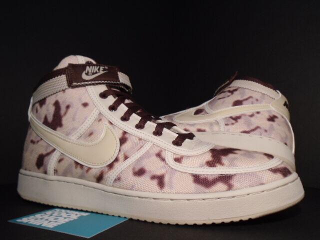 2018 Nike Dunk VANDAL SUPREME HI PREMIUM CAMO CHOCOLATE Marron STRAW BIRCH NEW 13