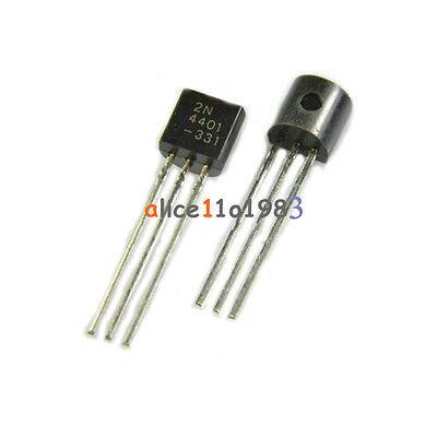 50PCS 2N4401 Transistor NPN 40 Volts 600 mA HAM Kit