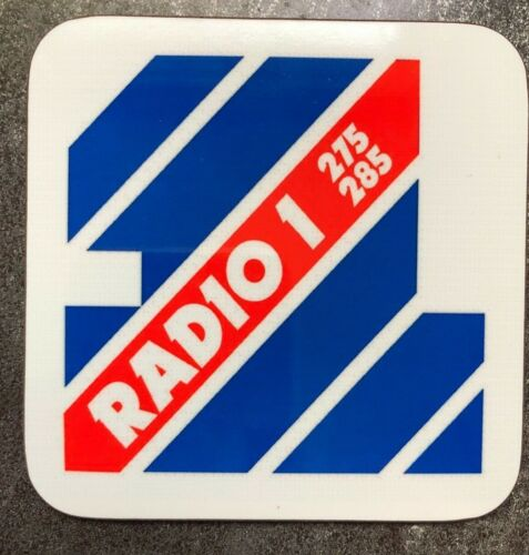 BBC RADIO 1 Années 80 Rétro Classique Vintage Logo brillant Home Decor Coaster