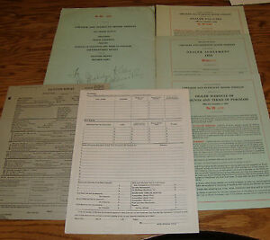 Original 1935 Plymouth Chrysler Dealer Manual Packet 35 Agreement Policies