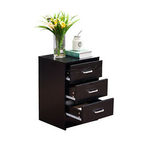 File-Cabinet-Table-3-Drawer-File-Storage-for-Home-Office-Black