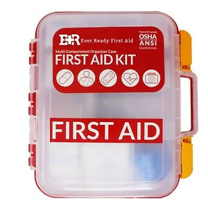 351 piece Emergency First Aid Kit Home Workplace Survival OSHA ANSI COMPLIANT