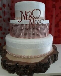 3 Tier Wedding Cake.Details About Diamante Silver Rose Gold 3 Tier Wedding Cake Kits Decorations