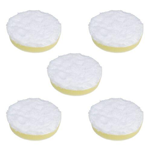 "5 pack 3/"" Microfiber Polishing Pad Hook and Loop Yellow Medium Density Foam"