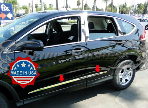 2012-2016 Honda CRV CR-V Body Side Molding 4Pc Chrome Stainless Steel Trim