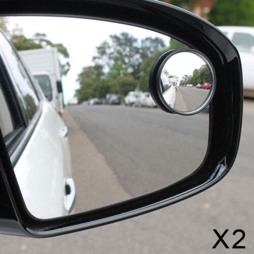 2x 50mm 2 en Convexo Punto Ciego Espejo Coche de seguridad puerta autocaravana RV camper van