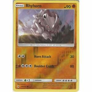 Rhyhorn-93-214-Common-Reverse-Holo-Card-Pokemon-TCG-SM10-Unbroken-Bonds