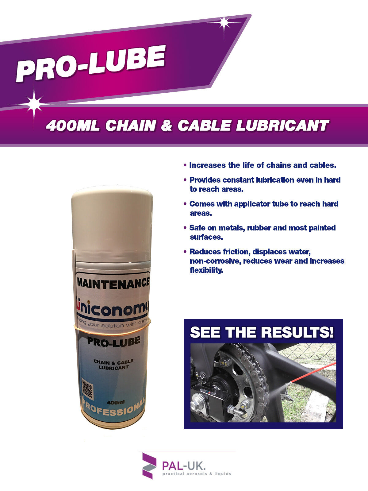 Chain Cable Lubricant - Comes with applicator tube to reach awkward areas
