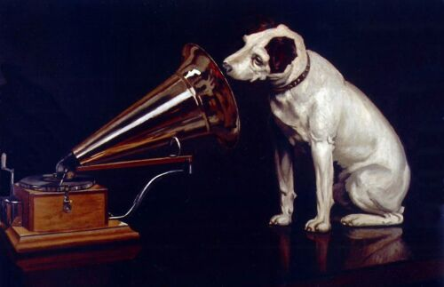 Terrier Pets Art Repro Made in U.S.A Giclee Prints His Masters Voice