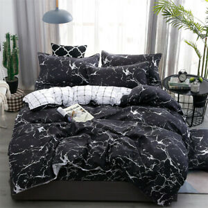 Marble Pattern Bedding Sets Duvet Cover Set With Pillow