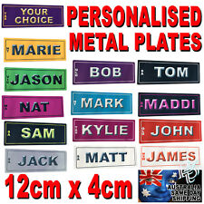 12cm x 4cm CUSTOM NOVELTY PERSONALISED NUMBER PLATE LICENCE SIGN BIKE CAR GIFT