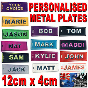 12cm-x-4cm-CUSTOM-NOVELTY-PERSONALISED-NUMBER-PLATE-LICENCE-SIGN-BIKE-CAR-GIFT