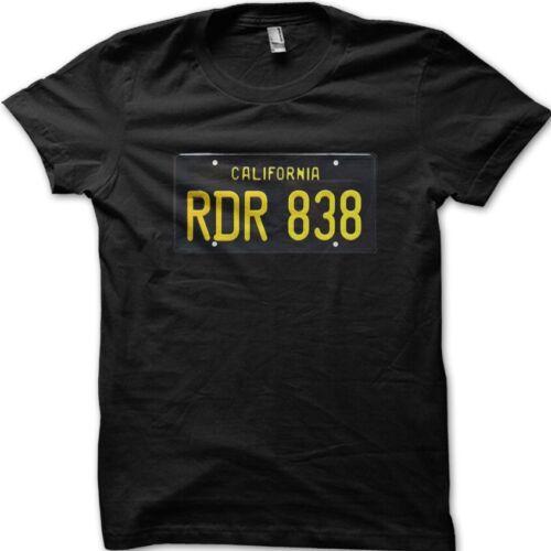 Steve McQueen 68 bullitt Dodge Charger license plate RDR838 t-shirt 9041
