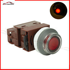 Industrial Control Box Onoff Self Lock Push Button Switch Red Illuminated 220v