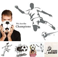 Wandtattoo Fussball Sticker Soccer Eishockey Champion Ball Puck Aufkleber Tattoo