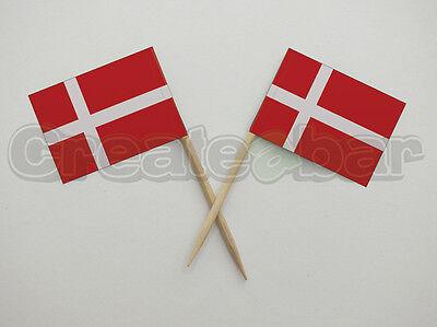 72 Picks Bandiera Danese-sandwich Buffet Cibo Party Decorazioni Per Bastoncini-danimarca Bandiere- Elevato Standard Di Qualità E Igiene