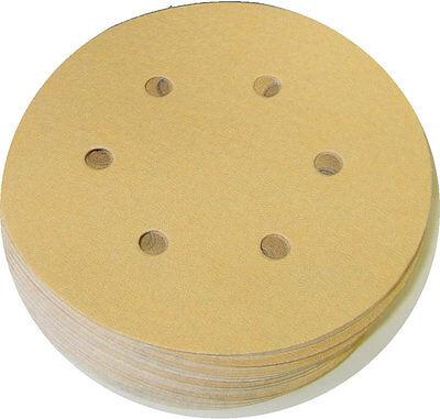 "Premium 8/"" Gold Sanding Discs  PSA Sticky 220 Grit 50 Discs"