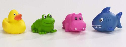 WASSERSPRITZTIERE 4 Stück Tiere Badewanne Wasserspielzeug Badespielzeug °°NEU°°