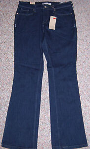 New-LEVI-039-S-Blue-Denim-515-Mid-Rise-Boot-Cut-Jeans-Inseam-32-Size-14-or-32-NWT