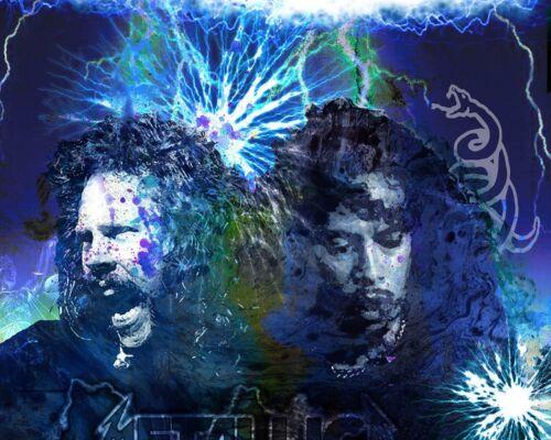 Kirk Hammett Metallica Art Print Poster James Hetfield Heavy Metal Canvas