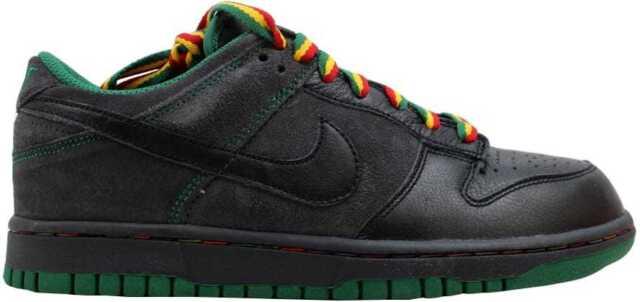 best sneakers b3b92 4a20b Nike Dunk Low CL Black Black-Anthracite-Pine Green Rasta Jamaica 304714-