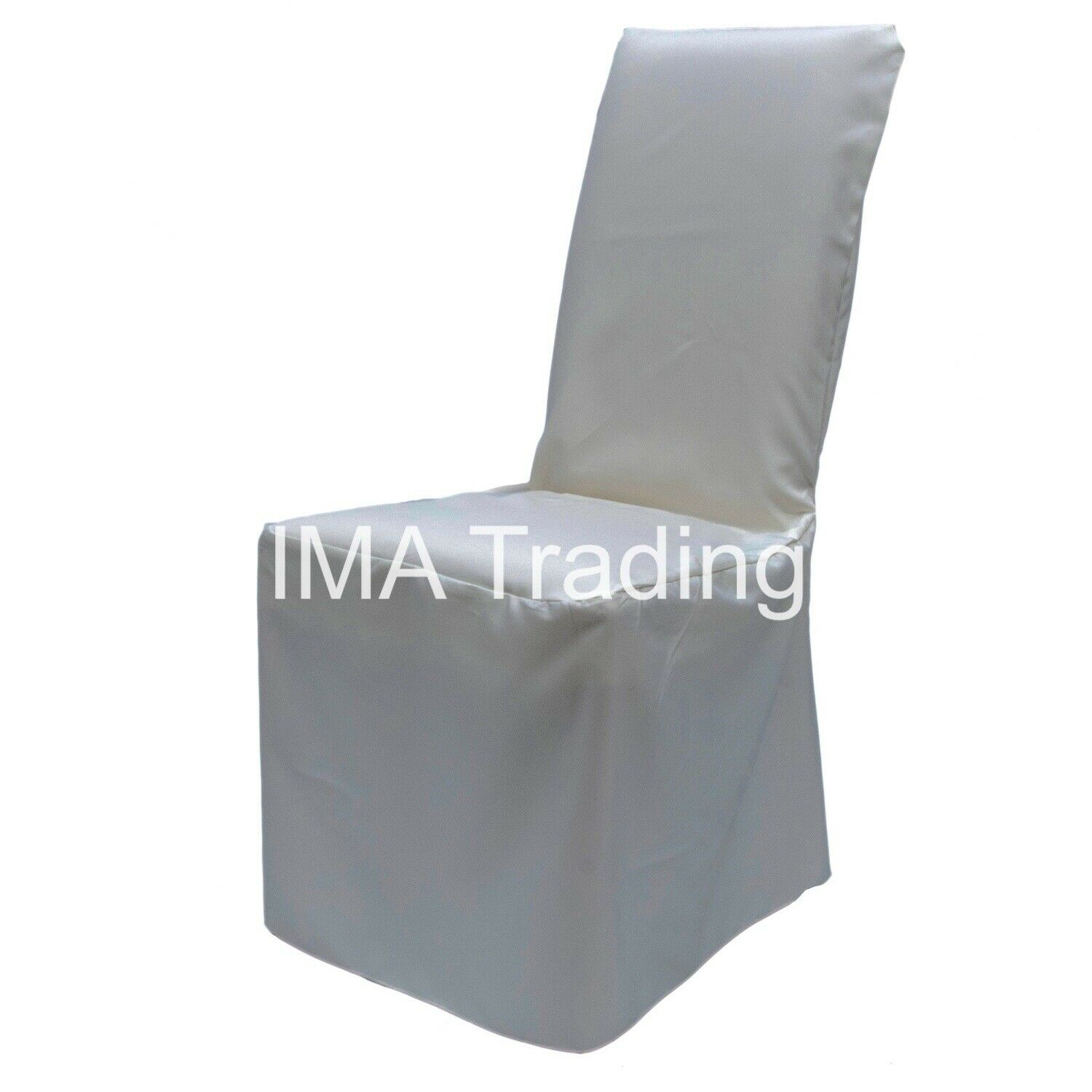 100 Ivoire Satin Chair Cover, Ivoire Coupe Ample Satin Polyester Chaise Cover