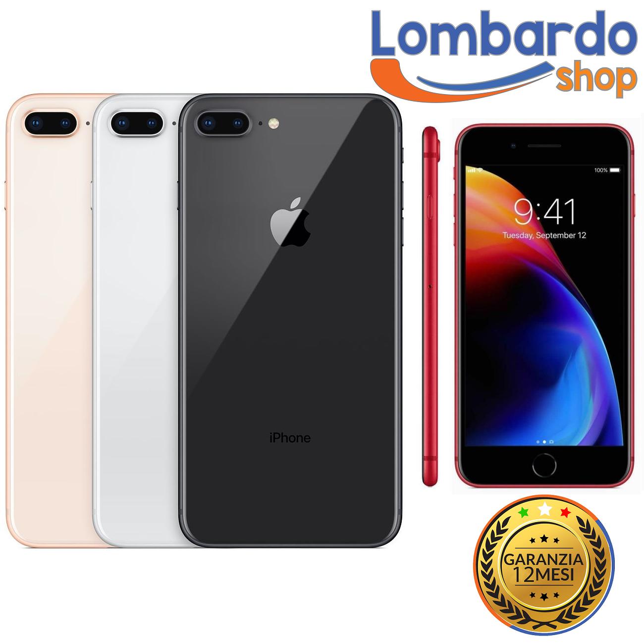 iPhone: IPHONE 8 PLUS RICONDIZIONATO 64GB GRADO B BIANCO NERO ORO RED APPLE RIGENERATO