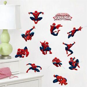Spiderman-12-Stickers-Kids-Room-Wall-Decor-Spider-man-Party-Decoration-Decals
