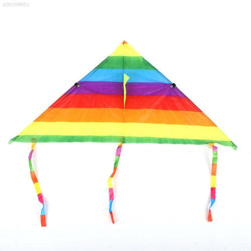 BF57 Triangle Kids Rainbow Kite Rainbow Kite Exercise Beginning Ability