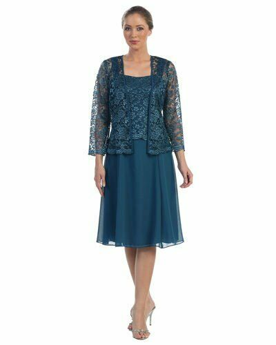 NEW FORMAL EVENING SHORT GOWN MOTHER of THE BRIDE GROOM DRESS CHURCH /& PLUS SIZE