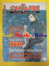 rivista CHITARRE 52/1990 Rolling Stones Tom Verlaine Adrian Belew UZEB No cd