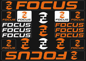 Focus Mountain Bicycle Frame Decals Stickers Graphic Adhesive Set Vinyl Blue