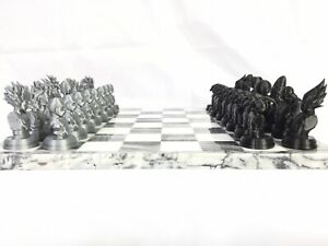 Dragon-Ball-Z-FAN-ART-Chess-Set-Goku-Broly-Vegeta-Gohan-Krillin-DragonBall-DBZ