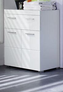 Badschrank Kommode weiß Hochglanz Unterschrank 73x 80 cm Badezimmer ...