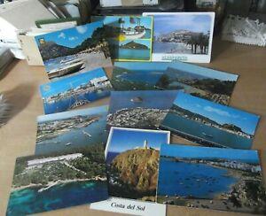 Lote-de-12-postales-Playas-Litoral-mediterraneo-espana