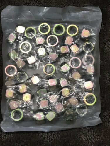 """FABORY 26LH88 3//8/""""-16 Nylon Insert Lock Nut TWO packages of 50 100 nuts total"""