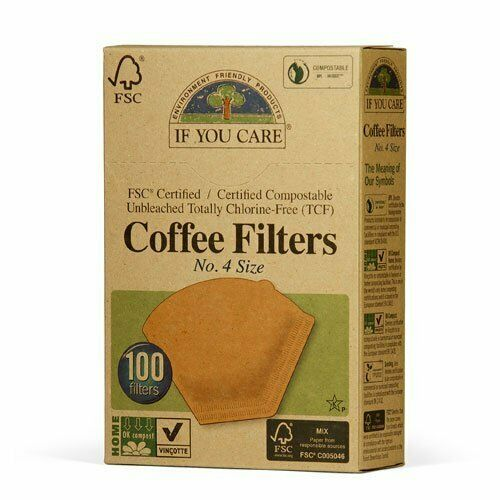 Large non sbiancata 100s Se tieni i filtri del caffè No.4