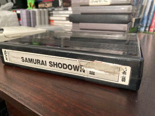 Neo Geo MVS Arcade Samurai Showdown III 3 Original SNK Cartridge