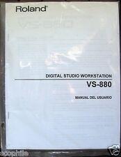 Roland VS-880 Digital Studio Workstation Manual In Spanish, Manual Del Usuario