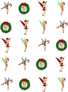 Christmas-Tinkerbell-Waterslide-Nail-Decals-Nail-art